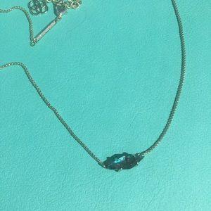 Kendra Scott Necklace - Navy Crackle Illusion